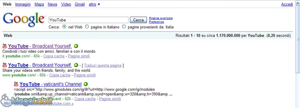 Cerca con Google - non funziona - Forum dei prodotti Google