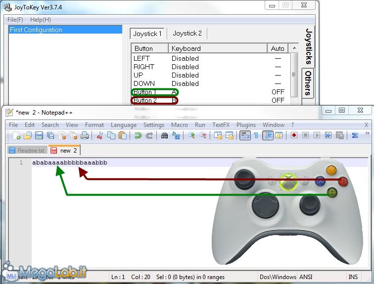 Joy2Key sposta la tastiera sul gamepad [MegaLab it]
