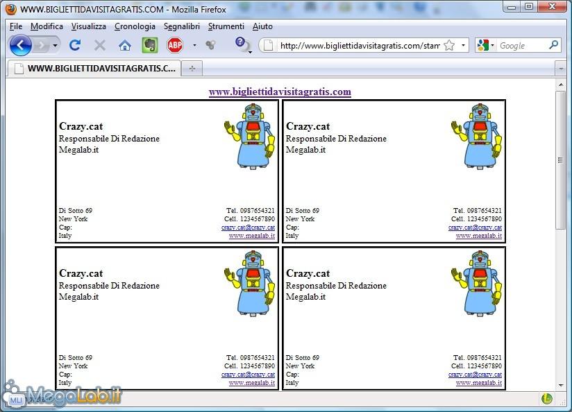 Crea il tuo biglietto da visita personalizzato online for Biglietti da visita online