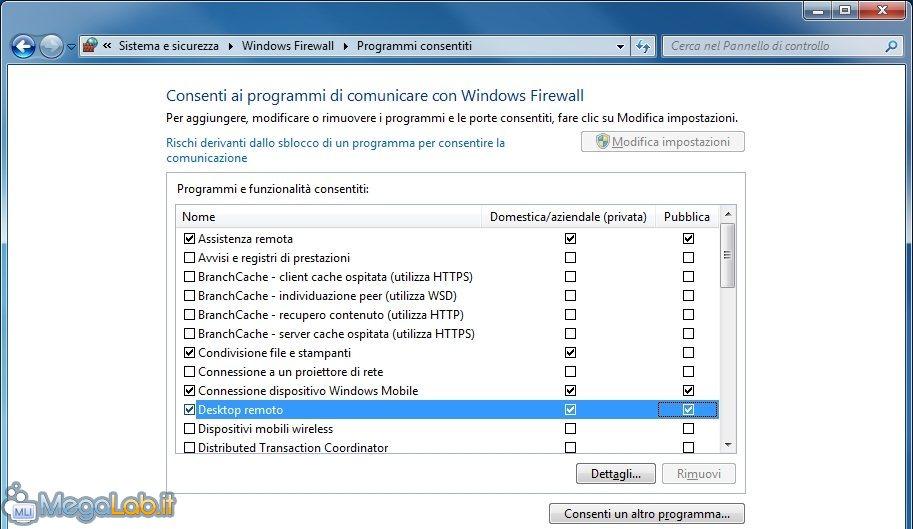 Aprire Porte Firewall Windows 7.Accedere Al Proprio Pc Ovunque Guida A Desktop Remoto