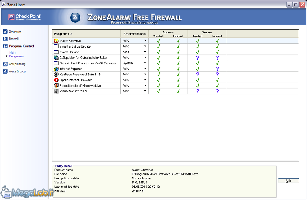 Scambio singolo freenet