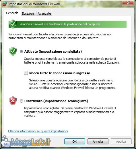 Aprire Porte Firewall Windows 7.Come Aprire Determinate Porte Su Windows Firewall Megalab It