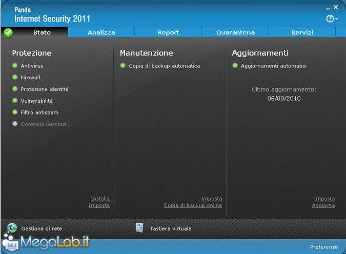 Panda internet security 2011 gratis per 1 anno for Costo aggiuntivo per suite suocera