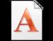 Font, carattere, a, documento, tipografia